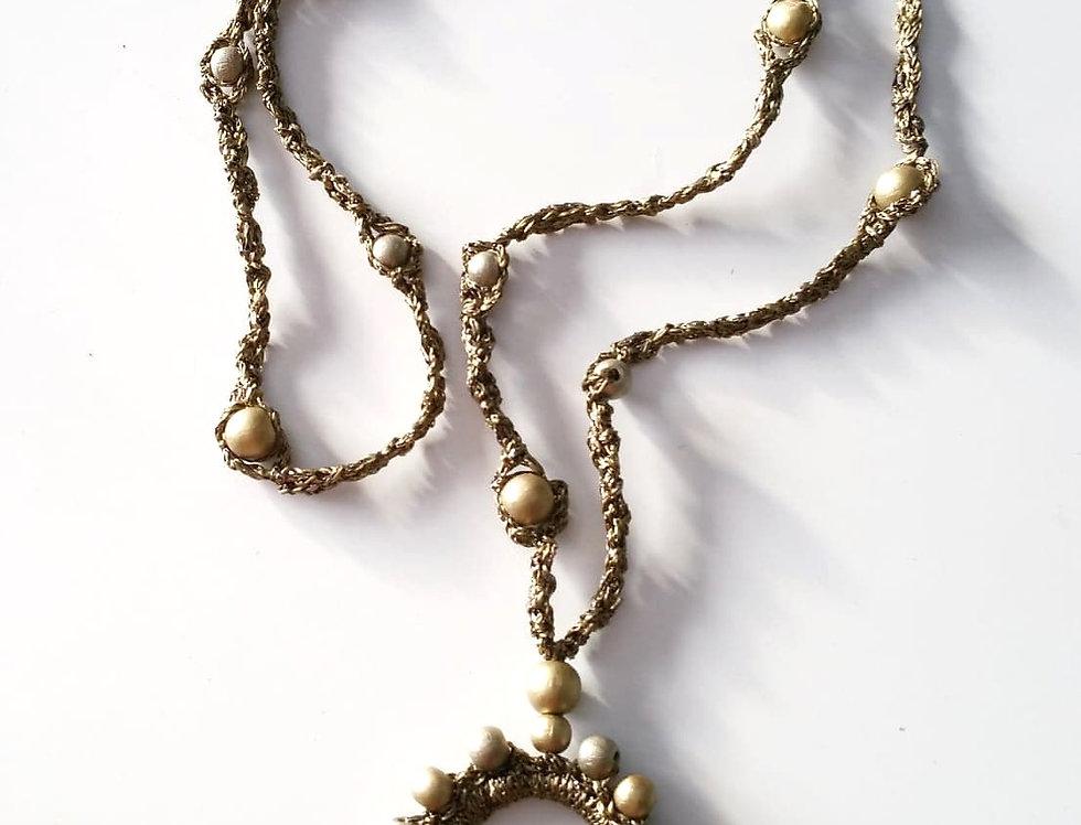 Sun goddess necklace, bronze