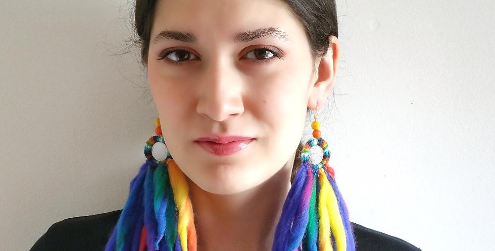 Tribe earrings, Aurora