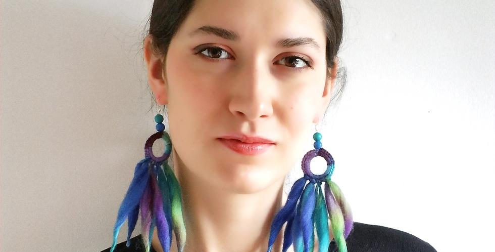 Nordic Light earrings (Blue)