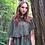"""Thumbnail: """"Ainikki"""" Pelerine, forest green"""