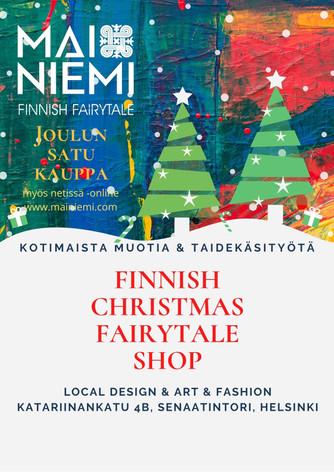 Finnish Christmas Fairytale shop is now online - Joulun Satu nettikauppa avattu https://www.mainiemi