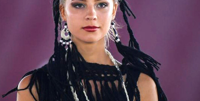 WoodO earrings (Black)