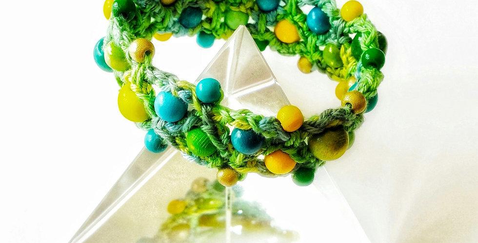 Magic circle bracelet, Green meadow