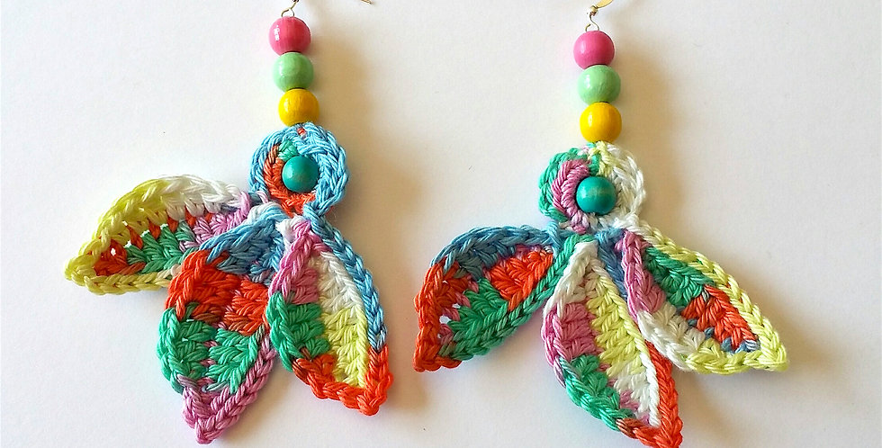 Fairy wings earrings, pastel