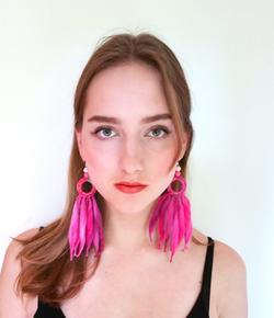 Nordic Light earrings, Pink
