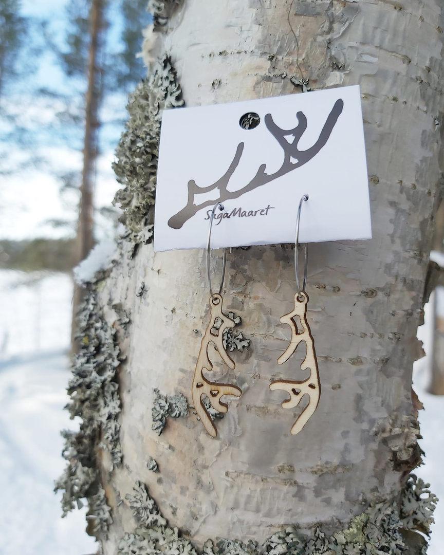 Reindeer  horn earrings