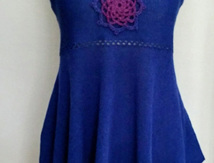 blue knitted north maiden dress