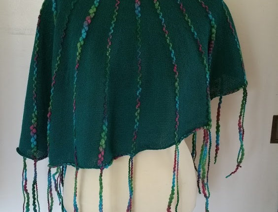 emerald knitted ainikki pelerine