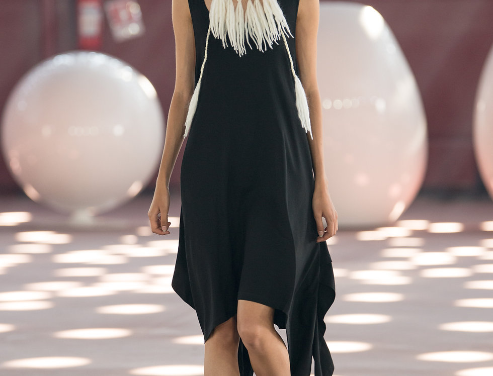 Black mai dress no 3 on catwalk