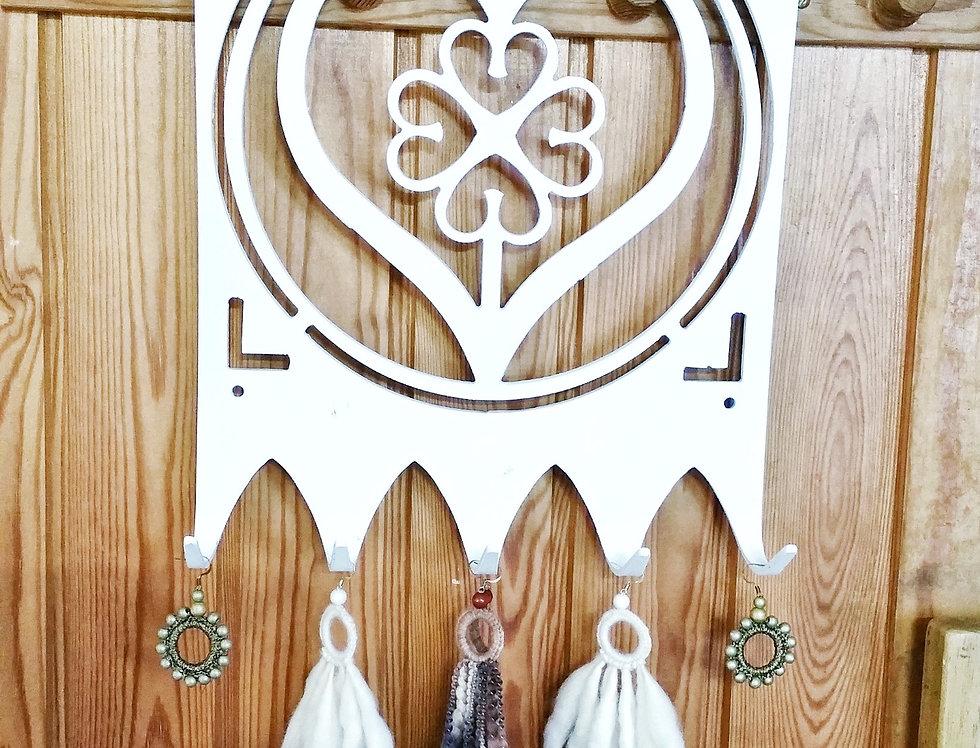 Lempi jewelry rack, white set 1