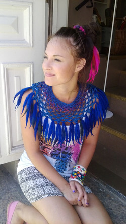 Sunflower collar blue