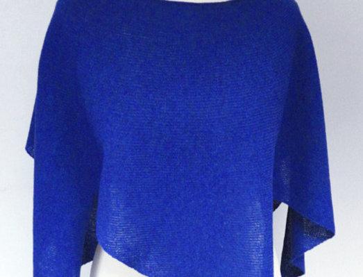 """""""Nordic Star"""" Poncho (royal blue)"""