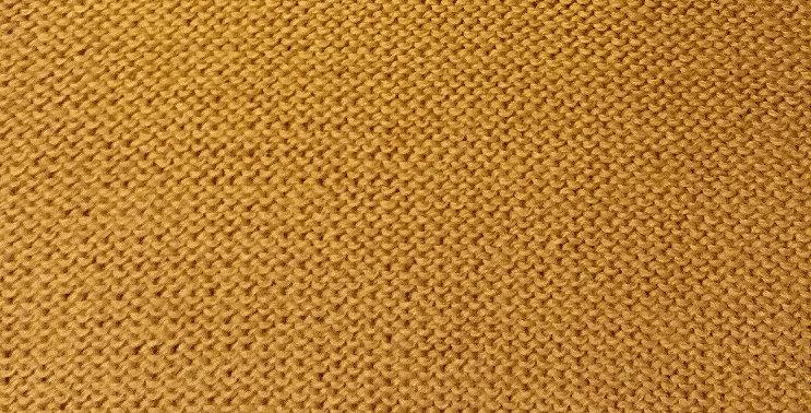 Gold knitted kalevala hood