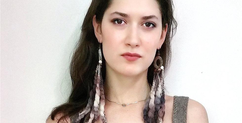 Kalevala earrings, bark