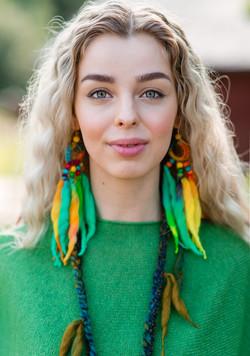 WoodO earrings (paradise)