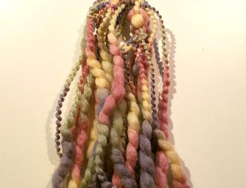 Seashell coloured crocheted City shaman hairband