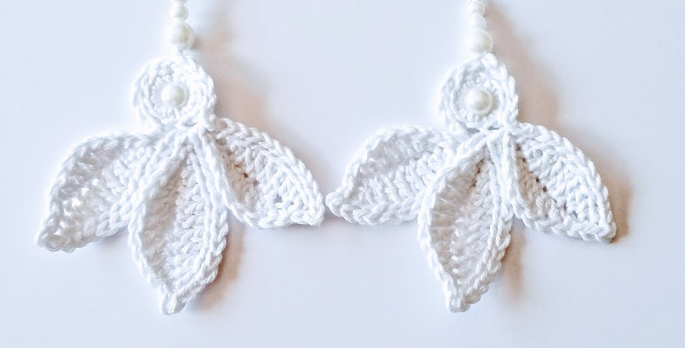 Fairy wings earrings, White