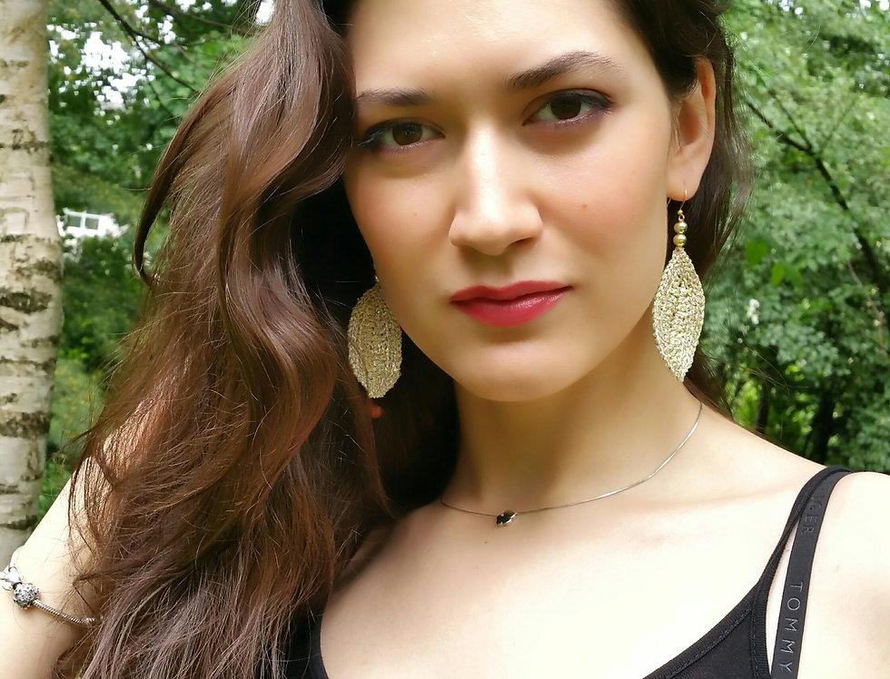 Leaf earrings (gold)