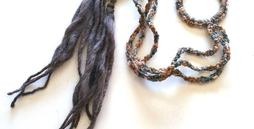 Dragon Braid Hair band (Bark)