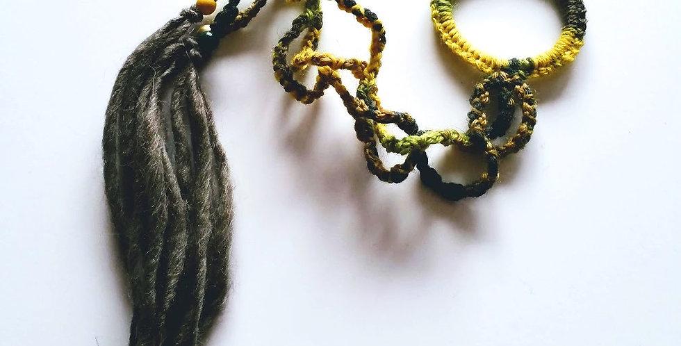 Dragon Braid Hair band (Forest green)
