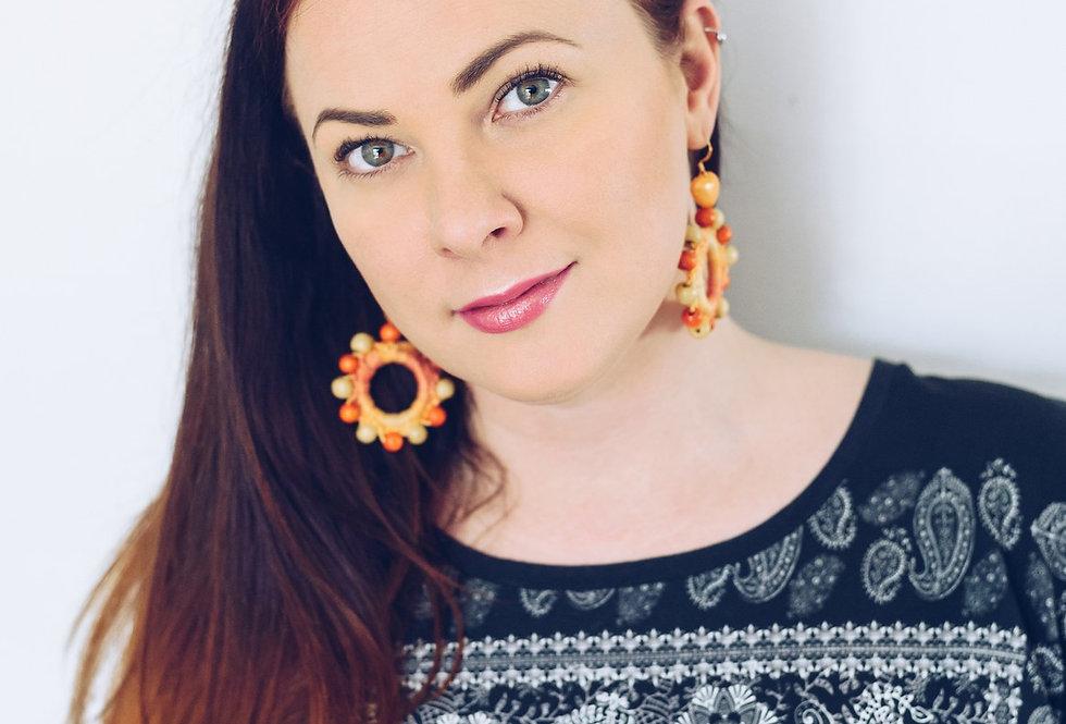 Sunflower earrings, Sun