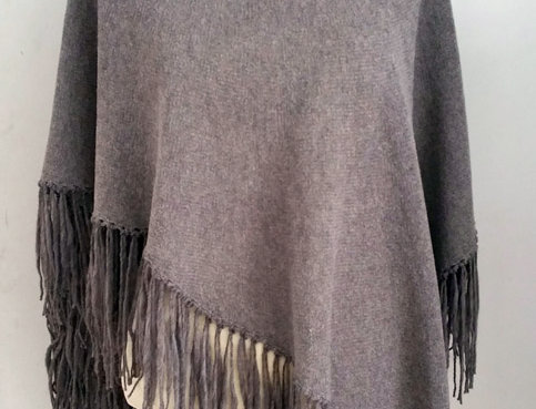 nutria knitted dervish poncho