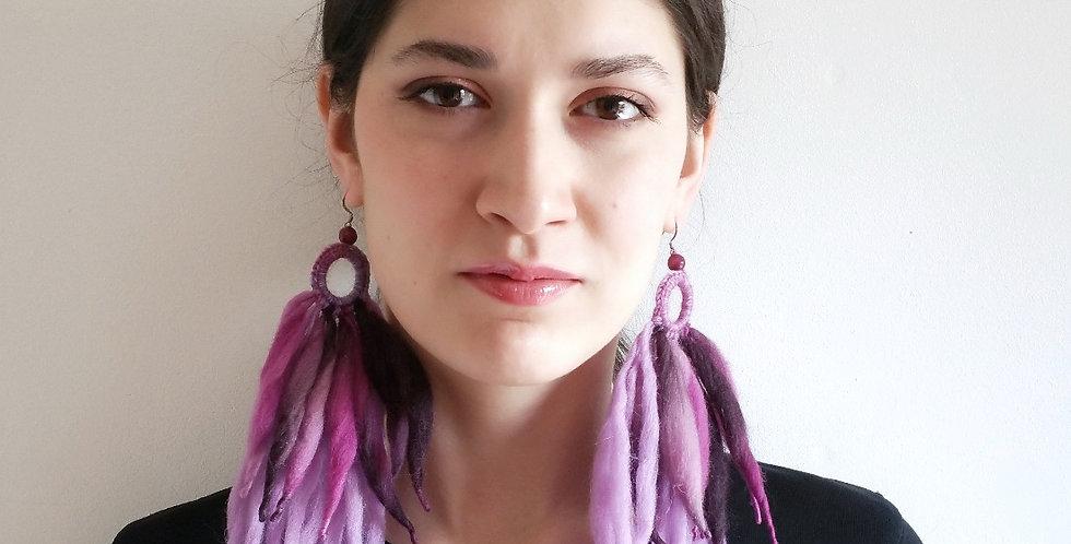 Tribe earrings, Amethyst fairy