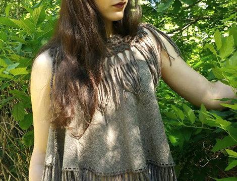 crocheted amazon fringe collar