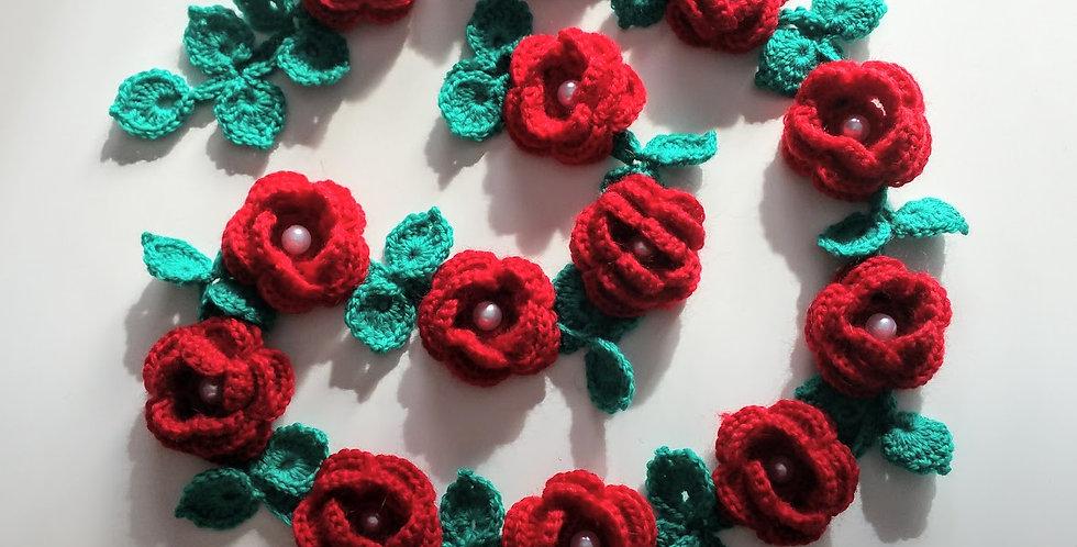 crocheted rosary belt