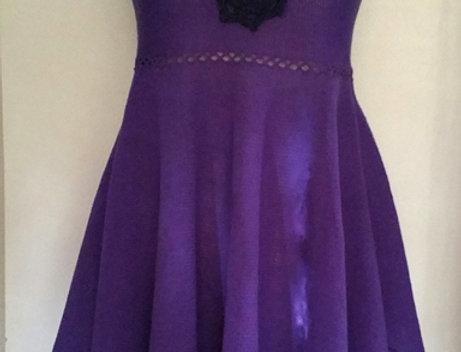 violet knitted north maiden dress
