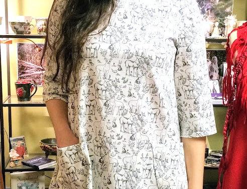 Magic forest tunic (white)