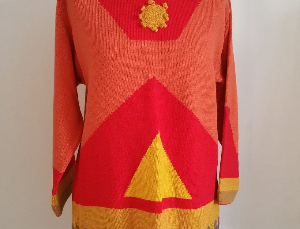 Return of the Magi pullover, red
