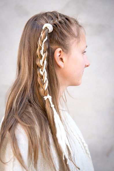 Dragon braid hair band