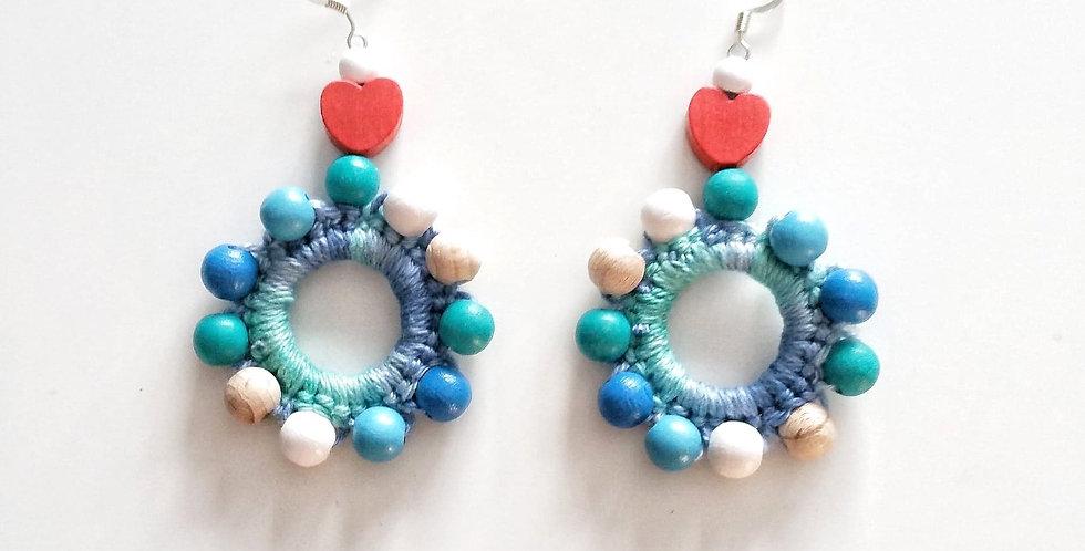 Sampo Wheel earrings, Sea Wind