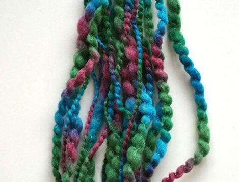 Fairytale coloured crocheted City Shaman hairband