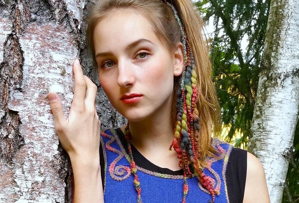 Dragon hairclips, ruska