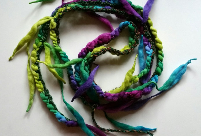saga coloured crocheted City Shaman garland