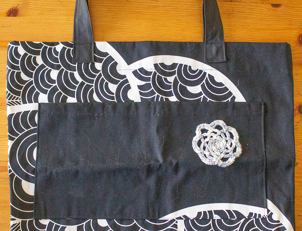 print reusable shopping bag front