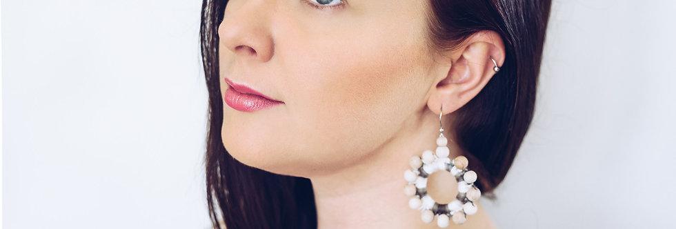 Sunflower earrings, Tree