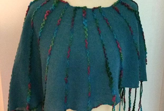 Maremaid coloured knitted ainikki pelerine
