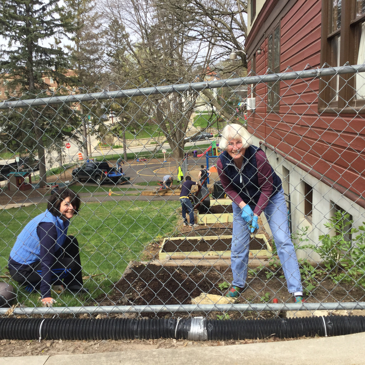 Our Master Gardeners are back to assist with the garden spaces.