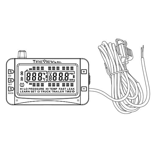70302-00 TireView Display, Monochrome, Hardwire