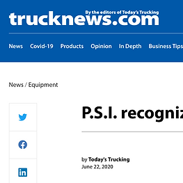 AN ANTONIO, Texas – Pressure Systems International (P.S.I.) has awarded six trailer manufacturers for their role in advancing the penetration rates of its Meritor Tire Inflation System.  Momentum Awards, given to those achieving the largest year-over-year gain in installations, went to Great Dane, Landoll, and Strick Trailers.  Excellence Awards, for those that have the highest penetration of the system for the trailers they produce, went to Kentucky Trailer, Stoughton Trailers and Wabash National.