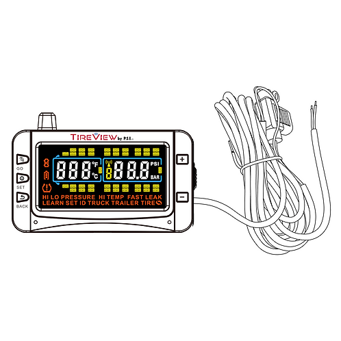 70303-00 TireView Display, Color, Hardwire