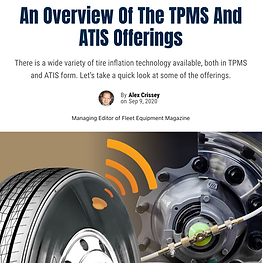 In 2018, P.S.I. added the TireView TPMS to its tire inflation offerings. According to P.S.I., TireView options include a standalone solution for the truck and tractor market; solutions for trailers as an enhancement for P.S.I.'s automatic tire inflation system (ATIS) for trailers or as a standalone; and an optional flow-thru kit, which enables the sensors to remain mounted to the axle during routine tire maintenance while still providing damage protection and theft resistance, according to the company.