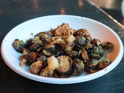 glazed brussel sprouts (gf) | $9