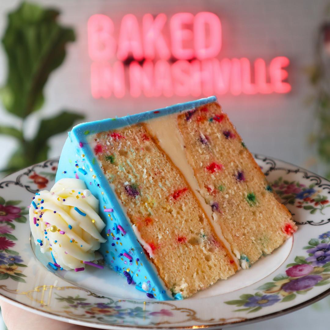 Funfetti Cake Slice | $6