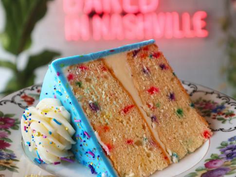 Funfetti Cake Slice   $6