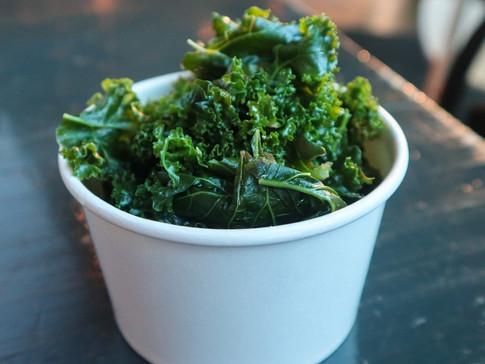 steamed kale | $4