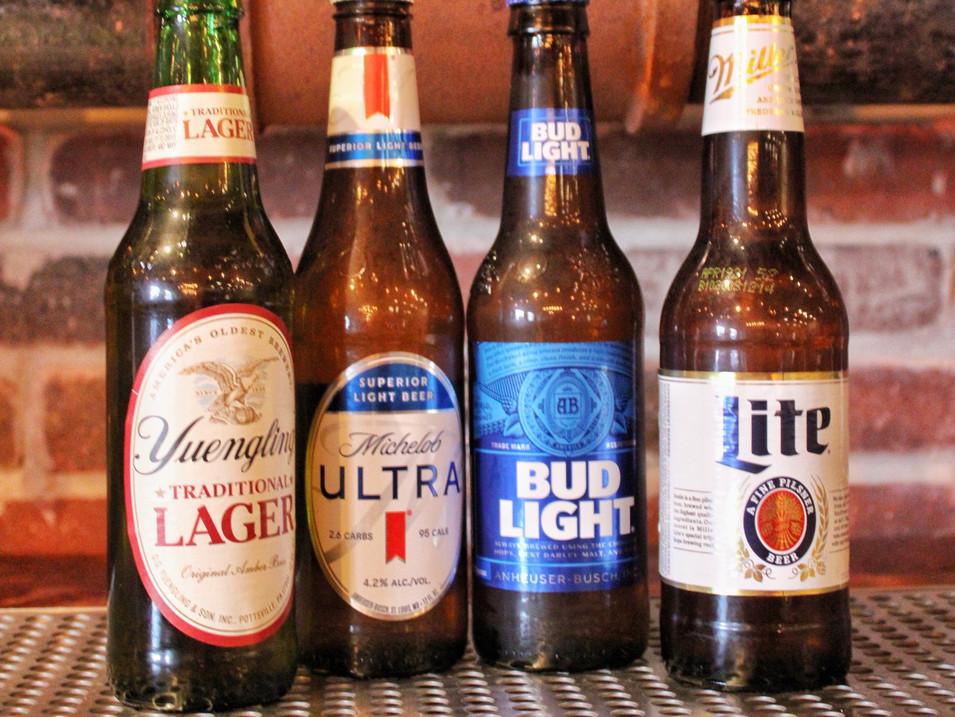 Domestic Bottles  4.2% ABV & 12oz bottles